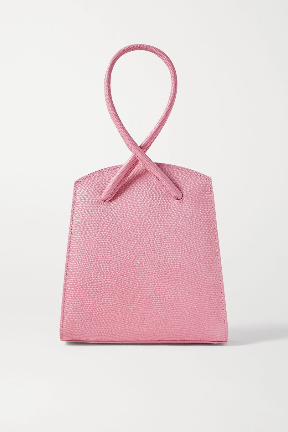 Little Liffner Twisted small lizard-effect leather tote