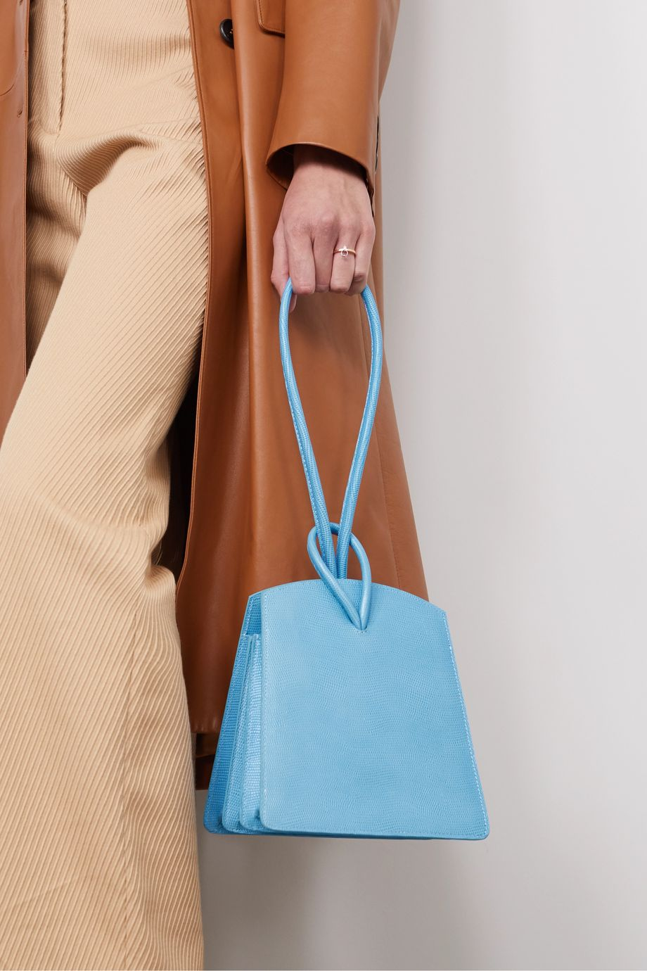Little Liffner Loop lizard-effect leather tote