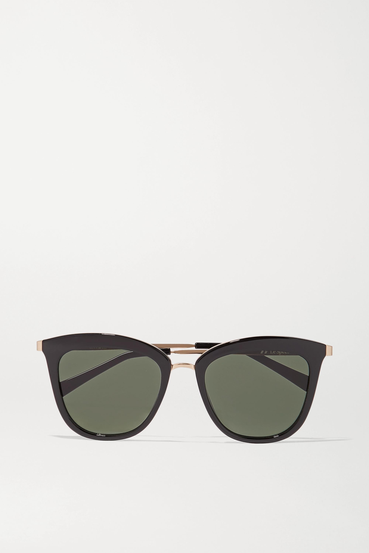 Le Specs Caliente cat-eye acetate and gold-tone sunglasses