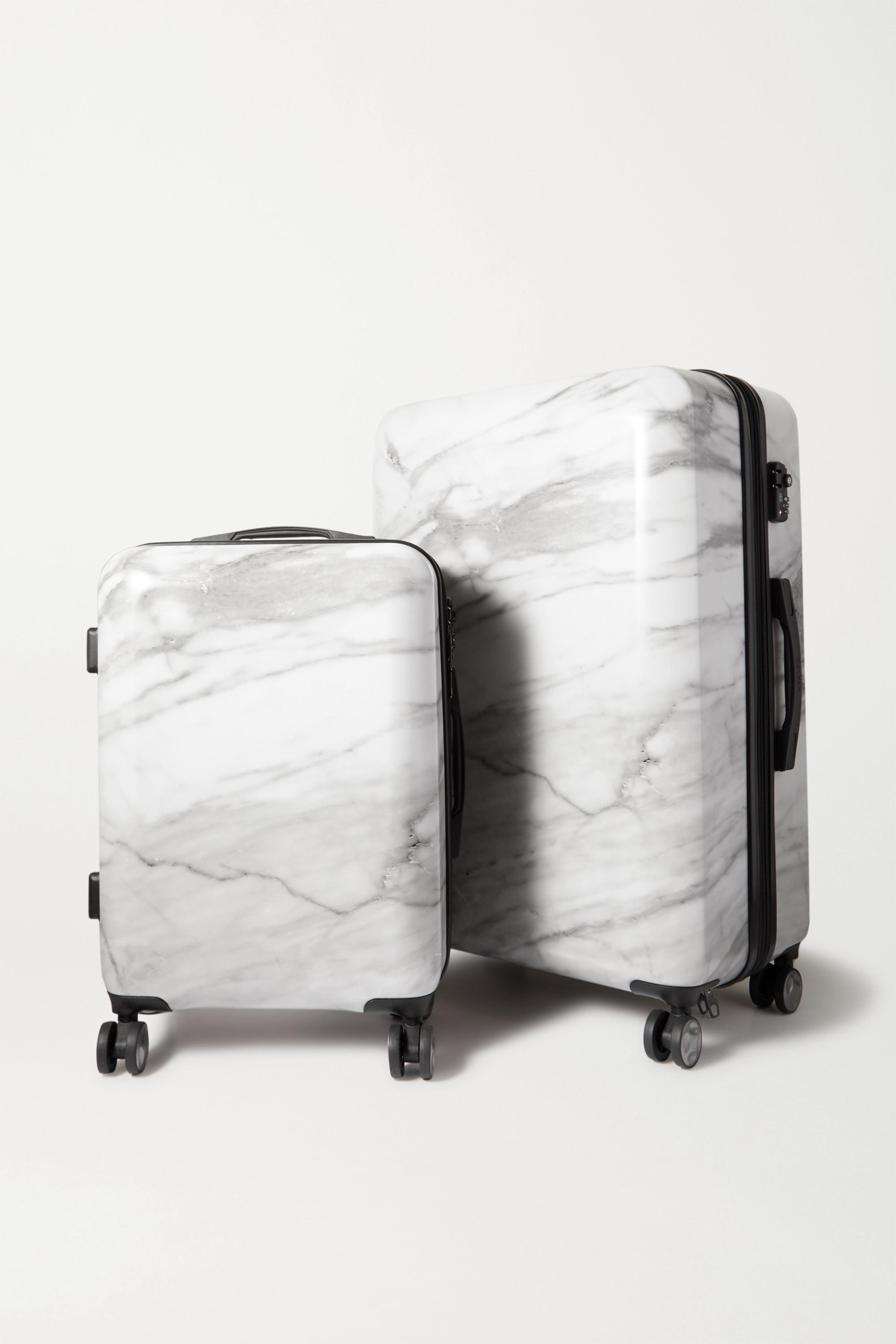CALPAK Astyll set of two marbled hardshell suitcases