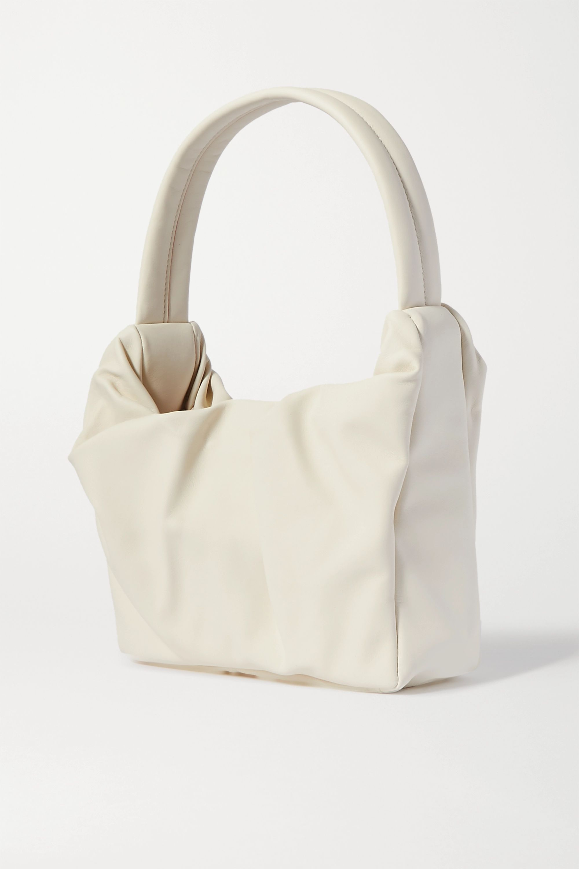 STAUD Felix gathered leather shoulder bag