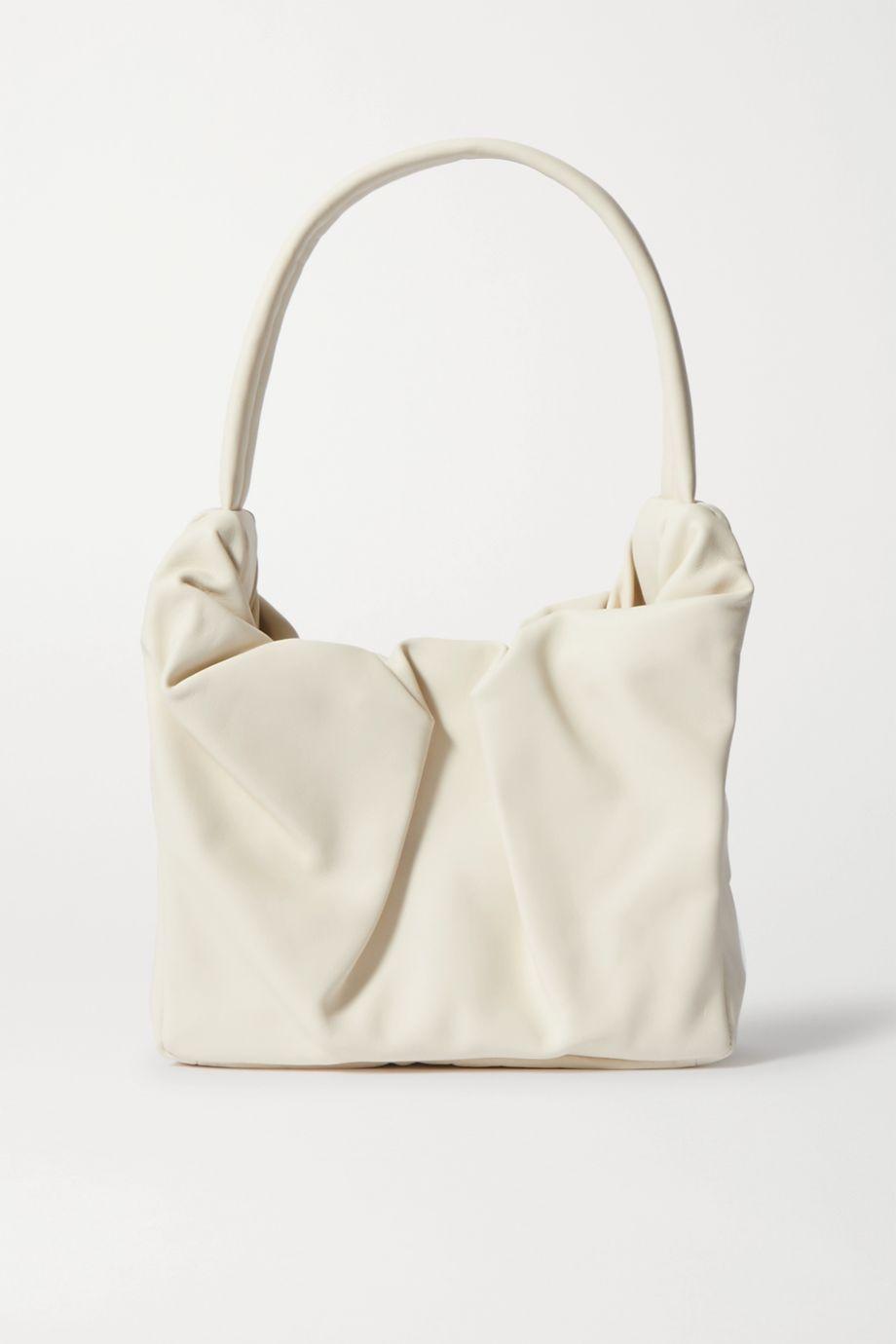 STAUD Felix gathered leather shoulder bag
