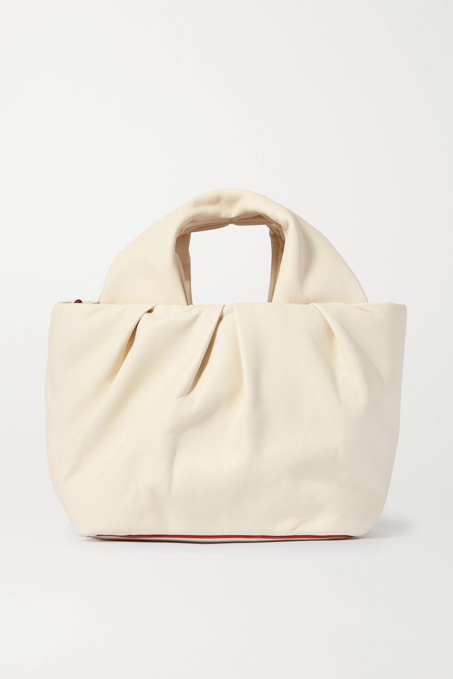 STAUD Lera small gathered leather tote