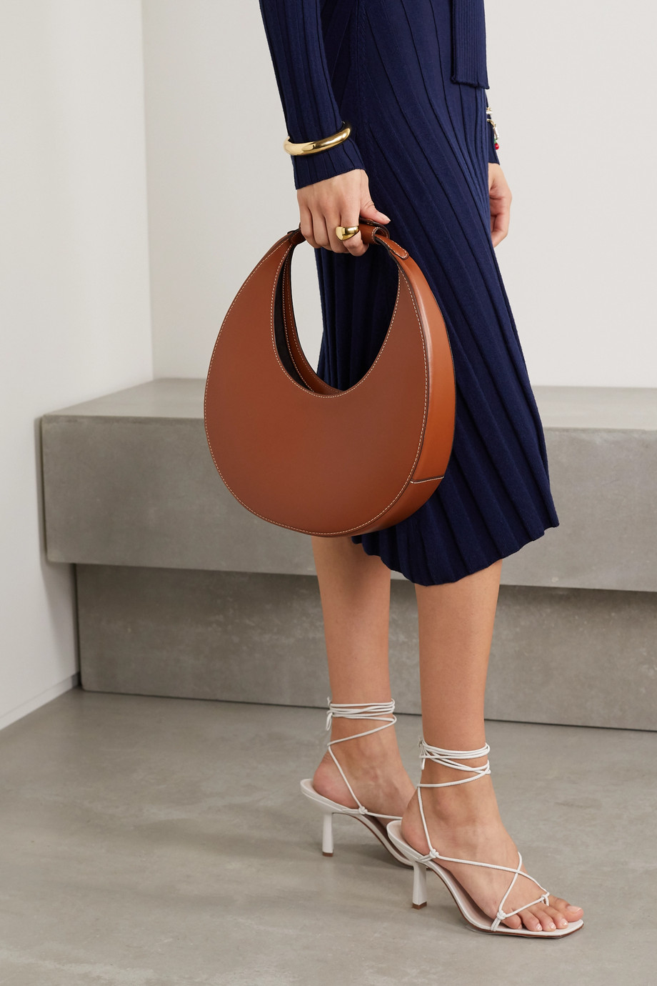STAUD Moon leather tote