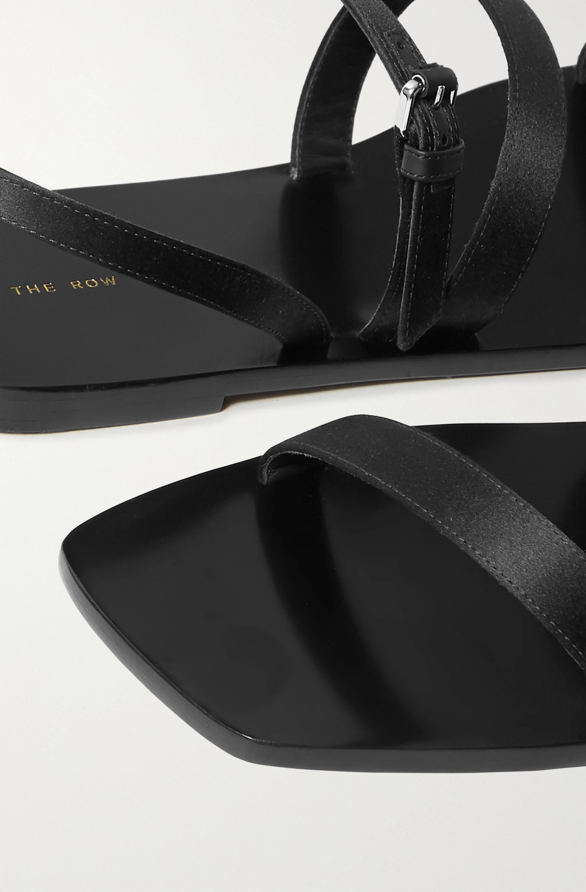 The Row Sandalen aus Satin