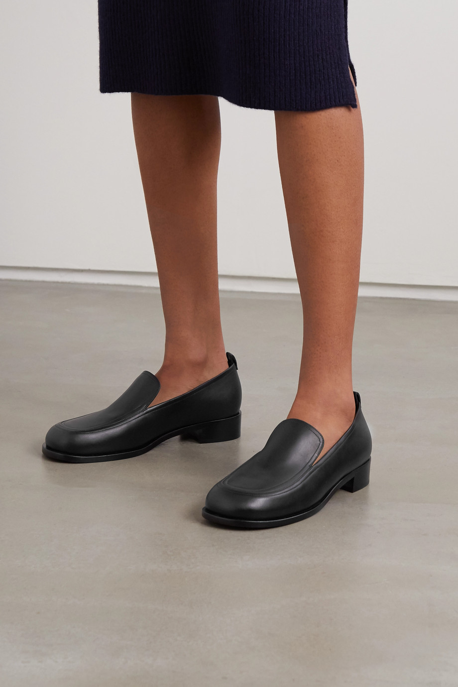 The Row Penny leather loafers