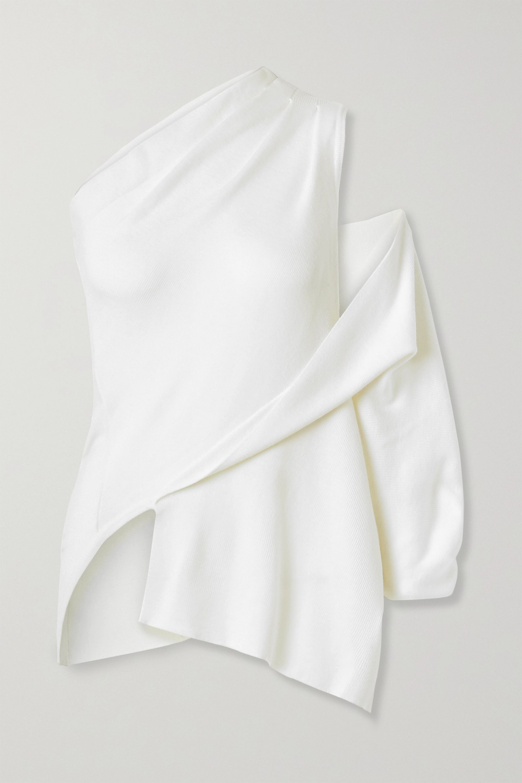 Monse Asymmetric one-shoulder merino wool top