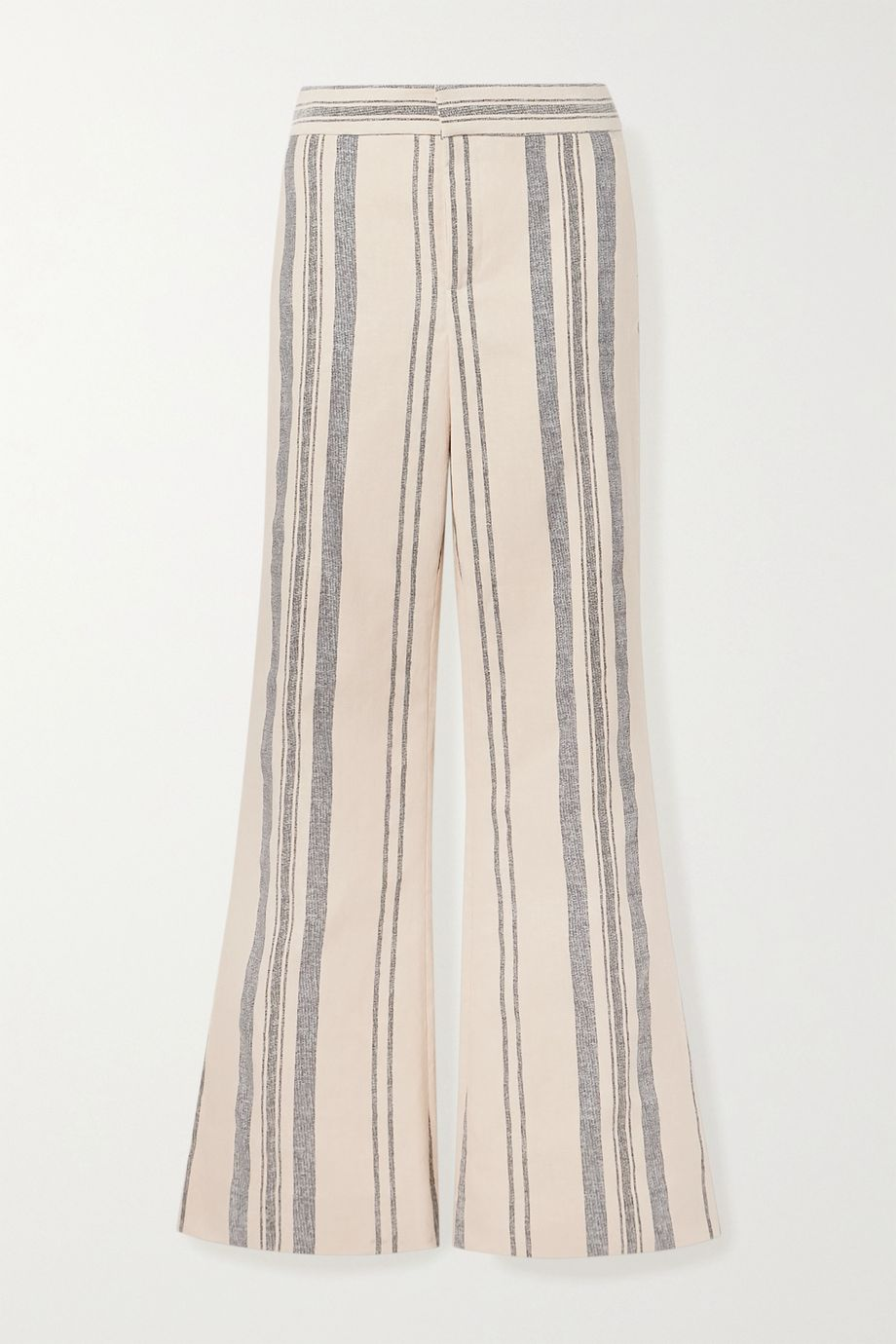 Monse Striped cotton and linen-blend wide-leg pants