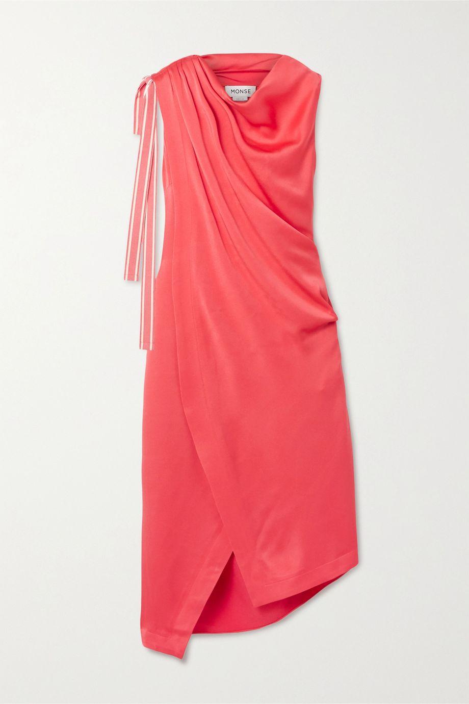 Monse Asymmetric satin-crepe dress