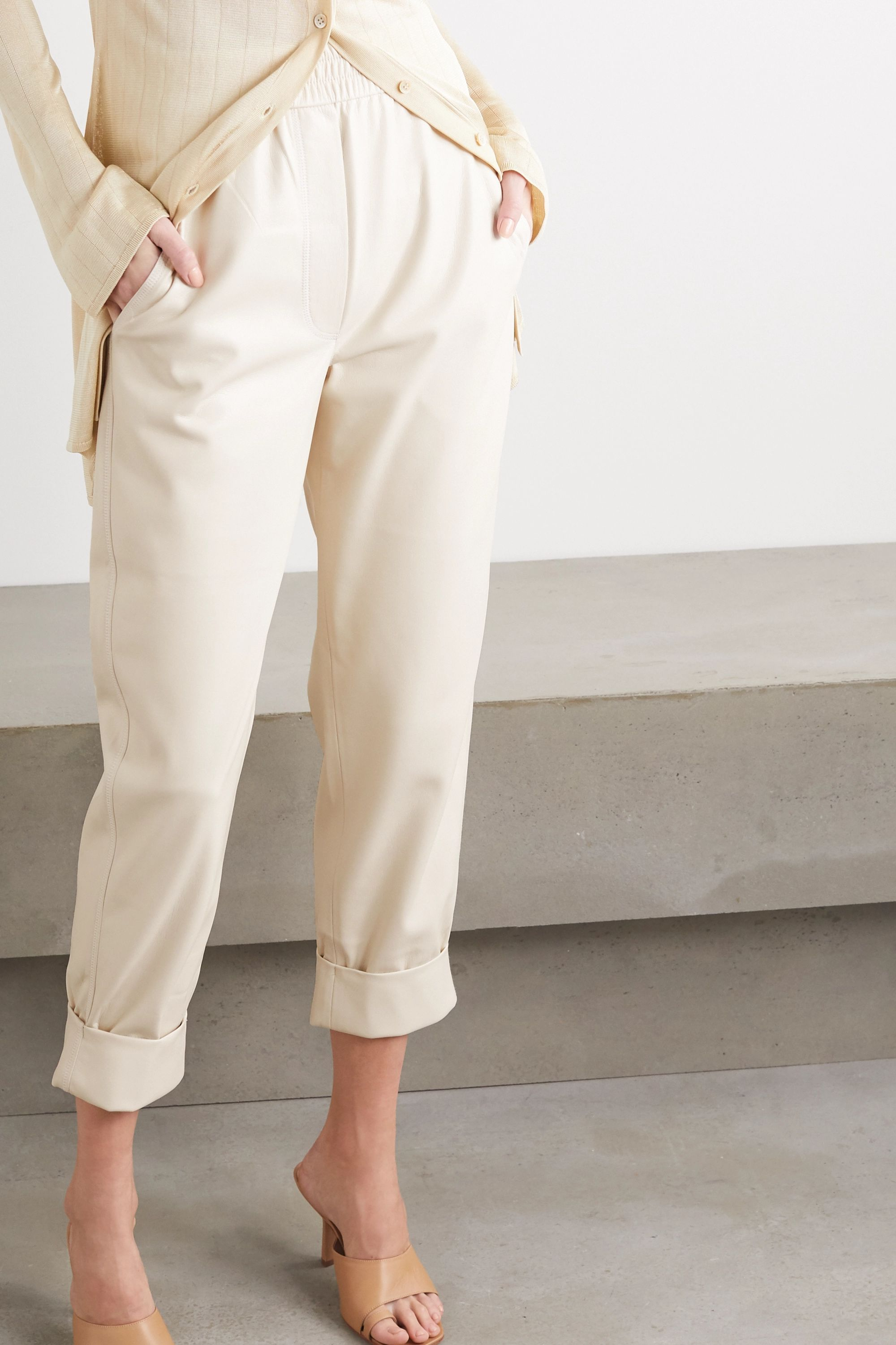 Nanushka Selah vegan leather straight-leg pants