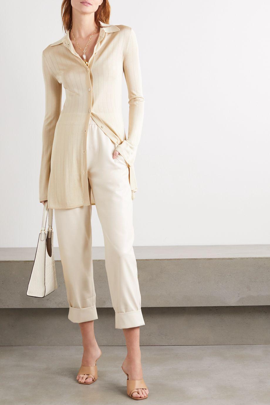 Nanushka Selah Hose mit geradem Bein aus veganem Leder