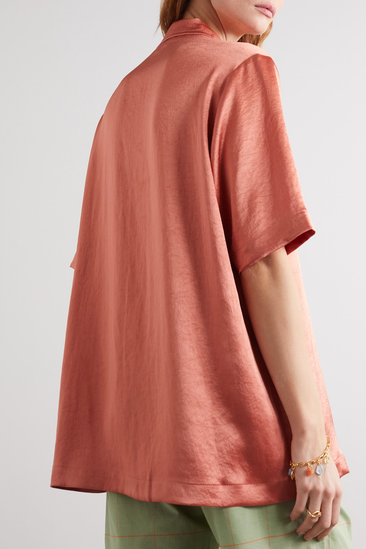 Nanushka Ella oversized washed-satin shirt