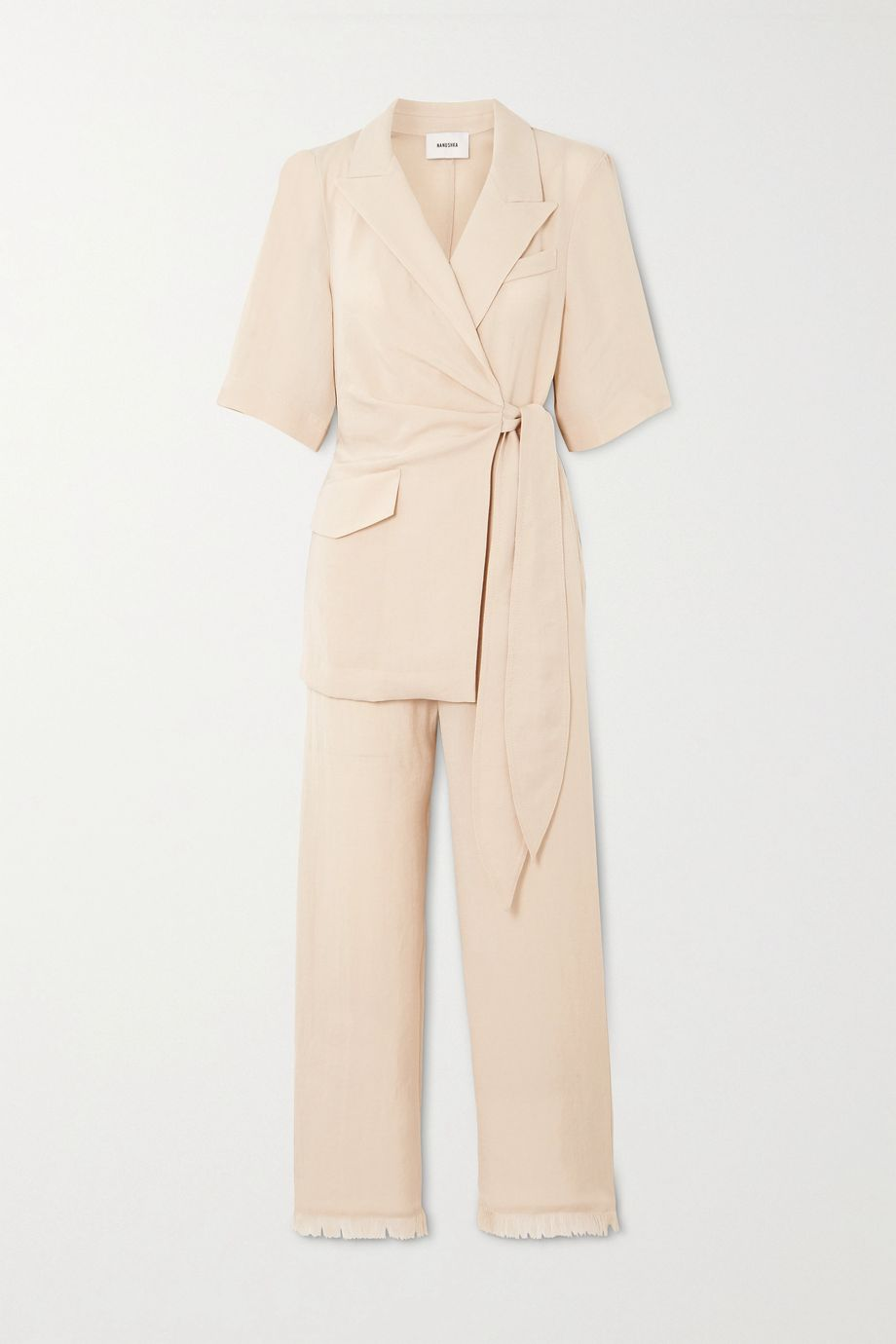 Nanushka Astero canvas wrap jumpsuit