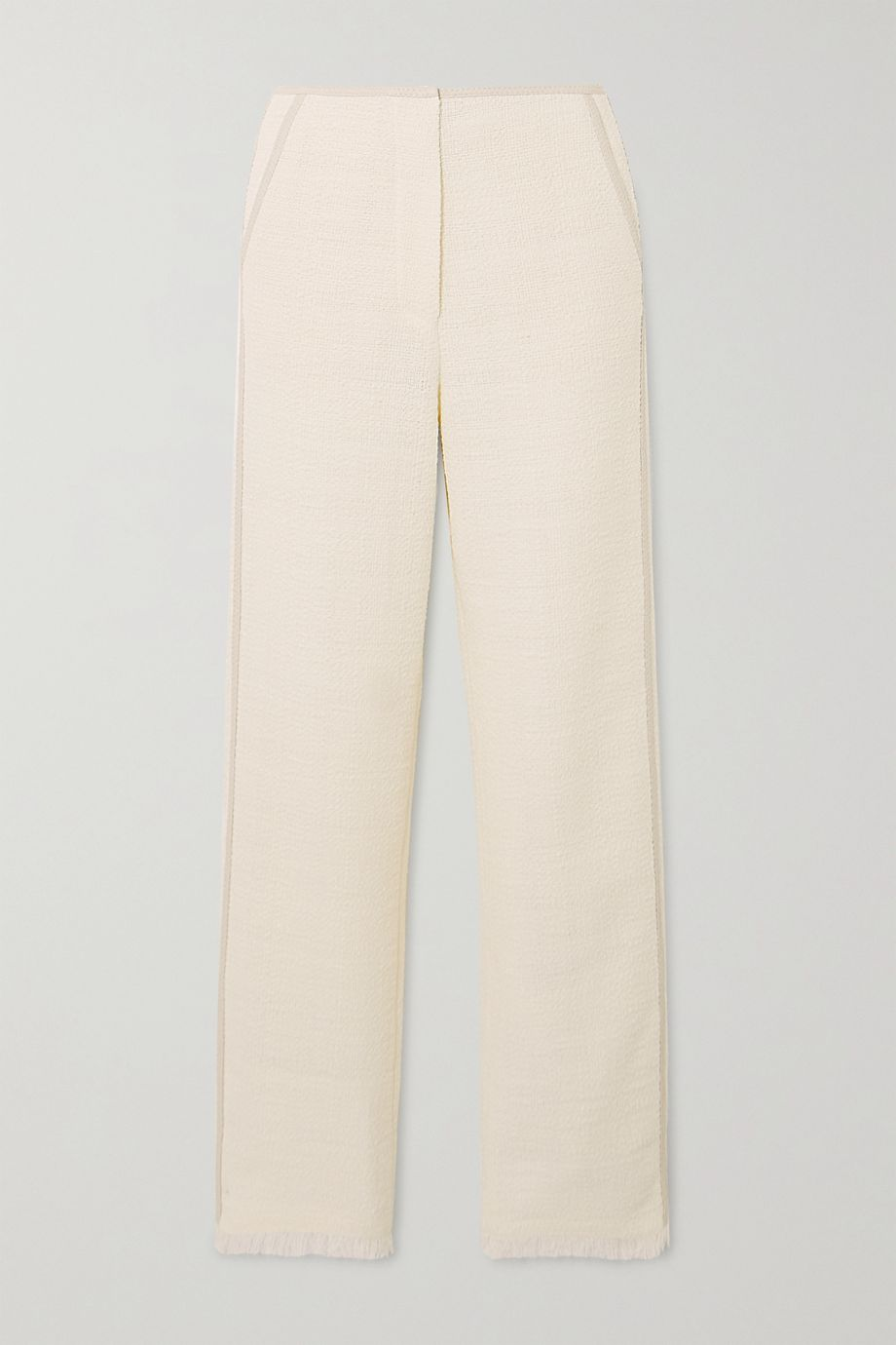 Nanushka Kyra cotton-blend bouclé straight-leg pants