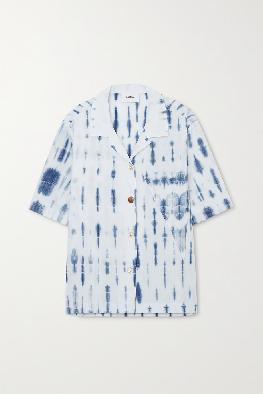 Nanushka Taio 扎染有机纯棉府绸衬衫