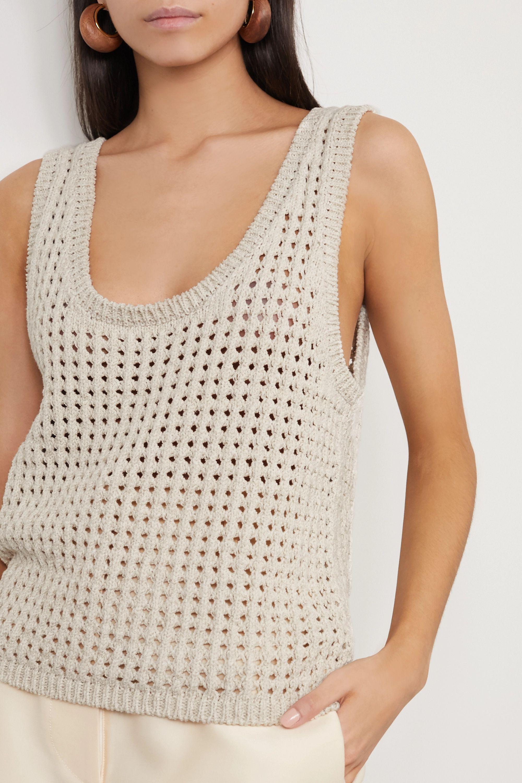 Nanushka Tula crocheted cotton-blend tank