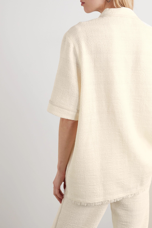 Nanushka Ella cotton-blend bouclé shirt