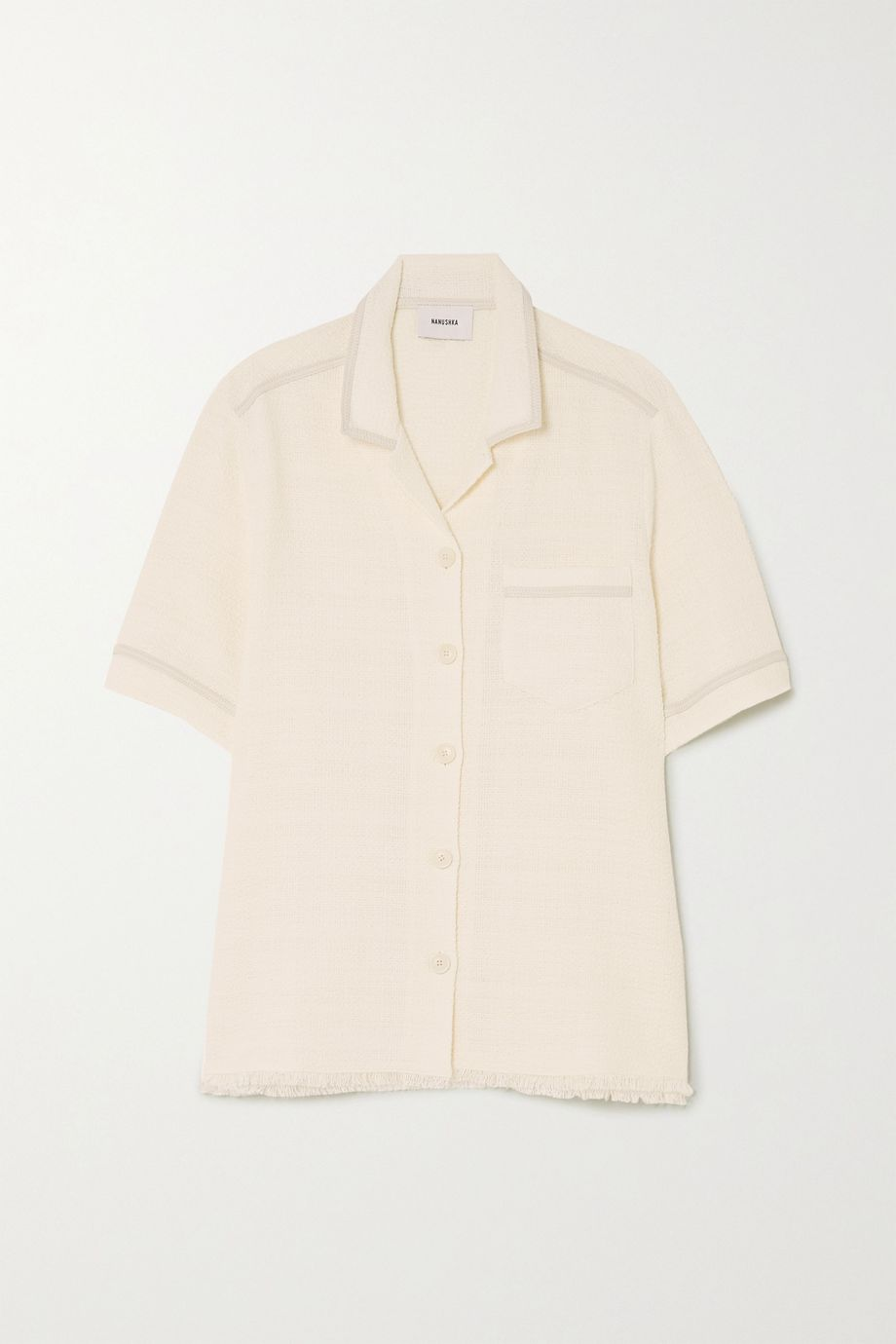 Nanushka Ella cotton-blend bouclé shirt