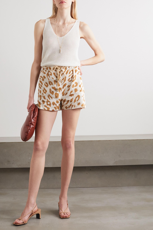 Nanushka Febe leopard-print organic cotton-voile shorts