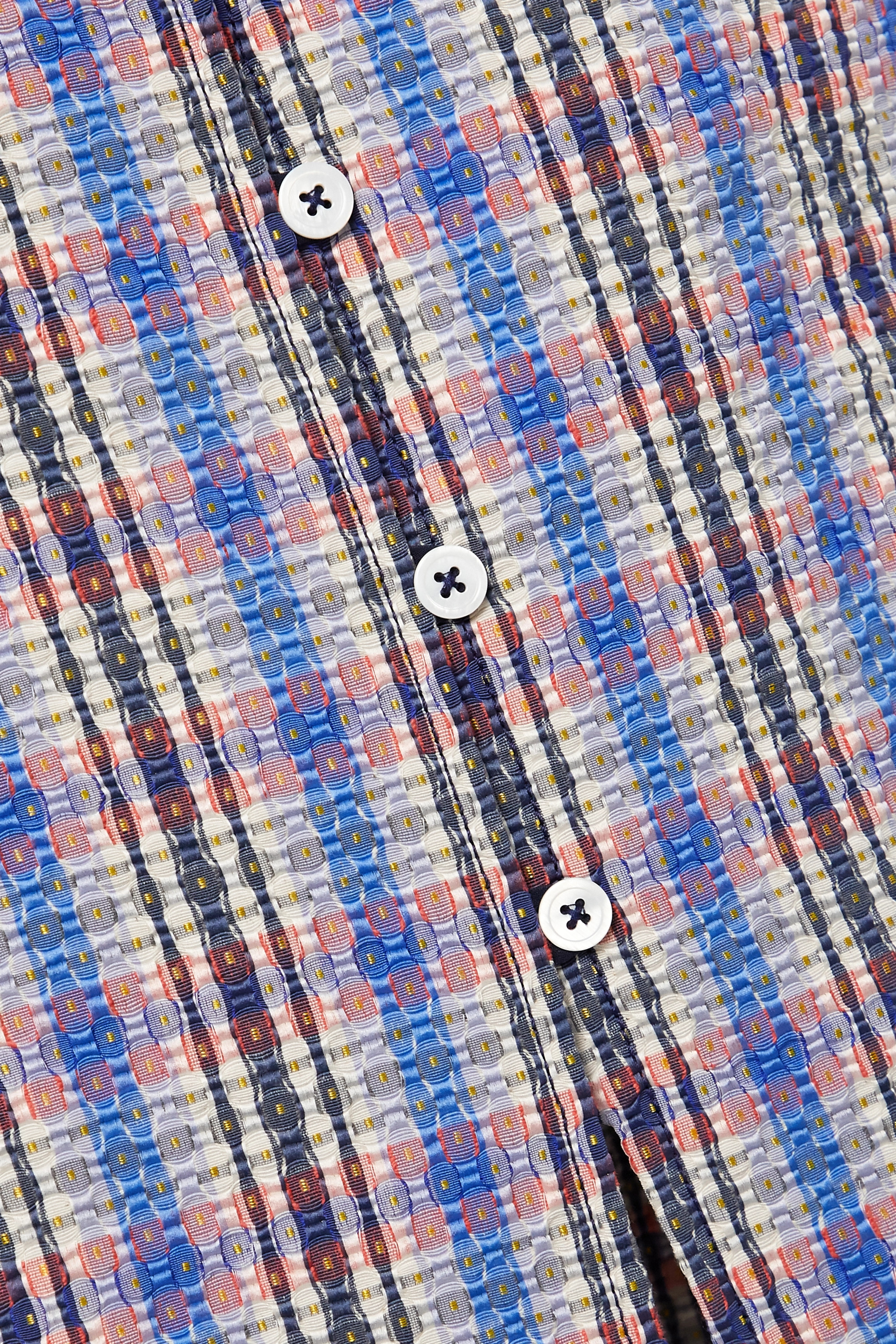 Rosie Assoulin 格纹棉质混纺提花中长半身裙