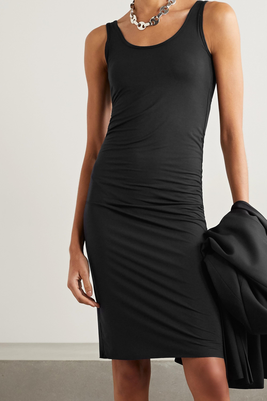 Black Butter Open-back Stretch-modal Midi Dress | Commando