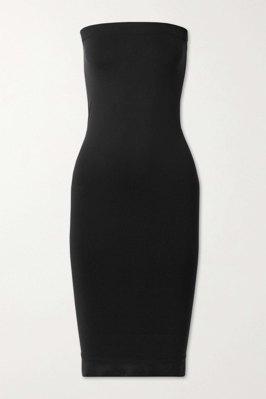 Minimalist trägerloses Kleid aus Stretch-Jersey