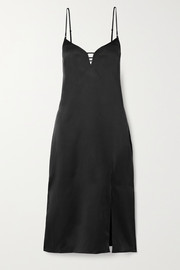 Kiki de Montparnasse Harness washed-silk dress