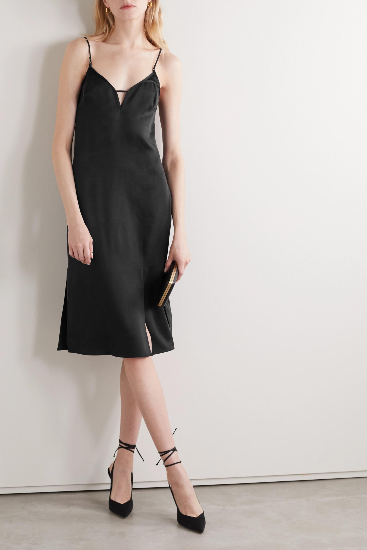 Kiki de Montparnasse Harness washed-silk dress