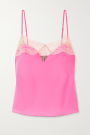 Le Shock lace-trimmed silk-blend satin camisole