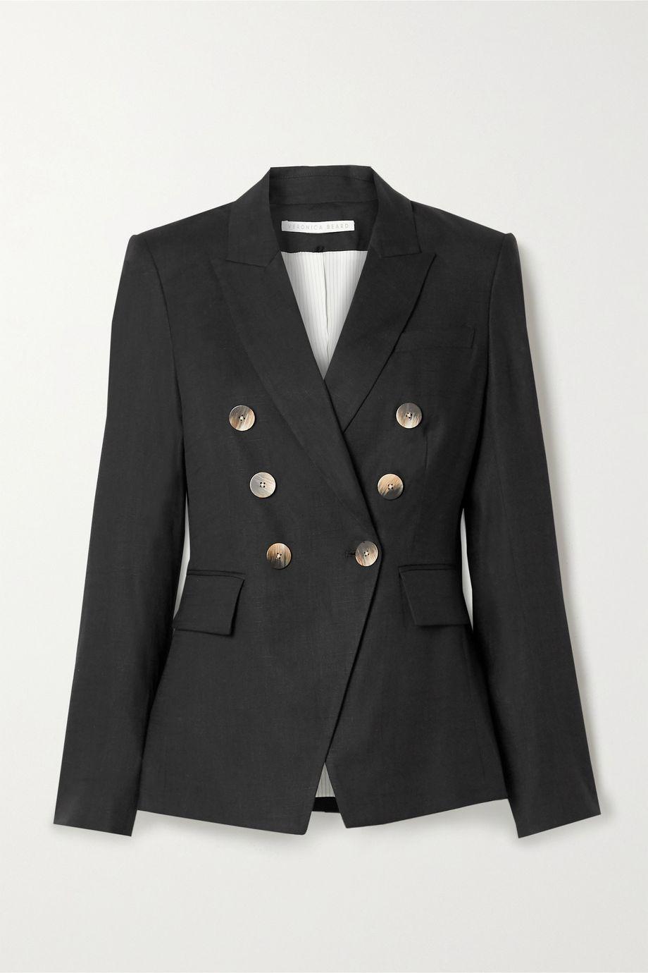 Veronica Beard Lonny Dickey double-breasted linen-blend blazer