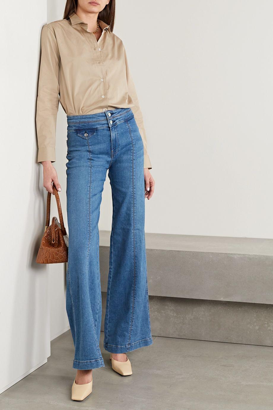 Veronica Beard Jean large taille haute Ember