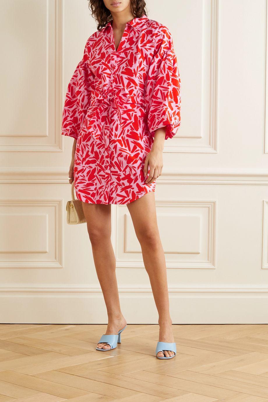 Veronica Beard Mini-robe en coton et soie mélangés imprimés Samy