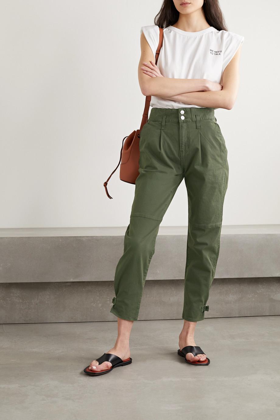 Veronica Beard Monika stretch-cotton twill tapered pants