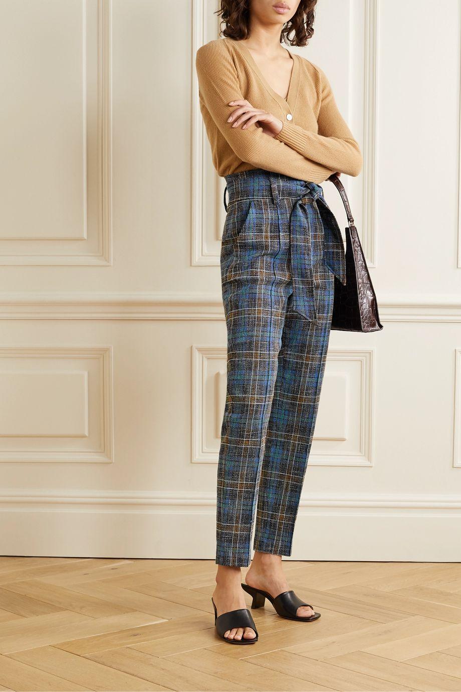 Veronica Beard Pantalon slim tissé à carreaux Clerence