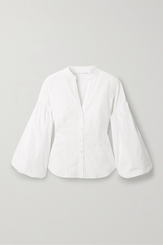Veronica Beard Aileen stretch-cotton blouse
