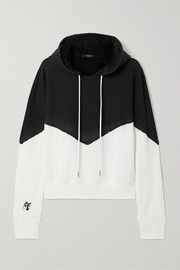 TWENTY Montréal Breathe two-tone cotton-blend mesh hoodie