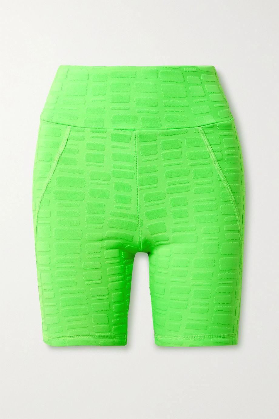 TWENTY Montréal Rothko 3D stretch jacquard-knit shorts