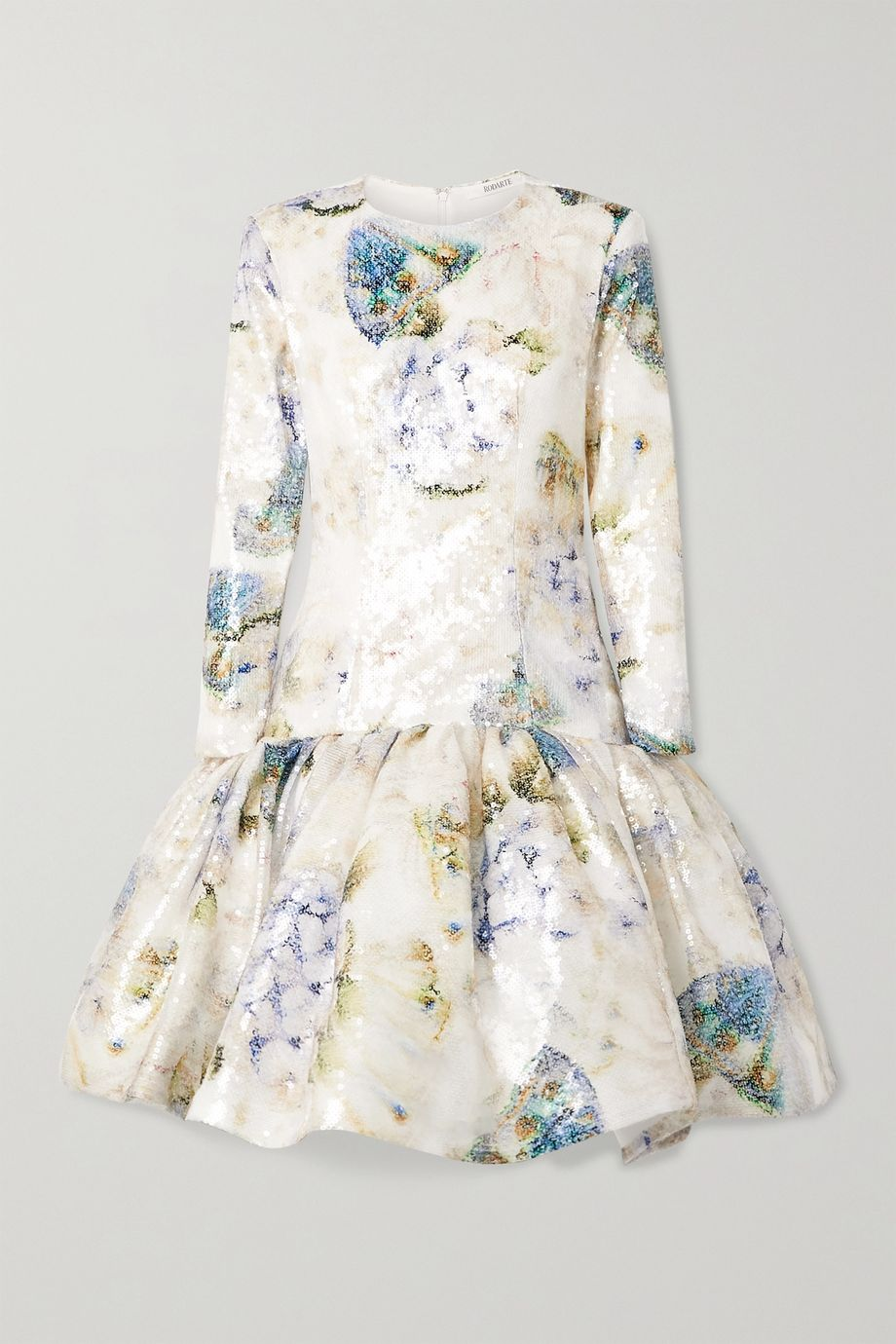 Rodarte Tiered sequined tulle mini dress