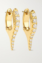 Lola 18-karat gold diamond earrings