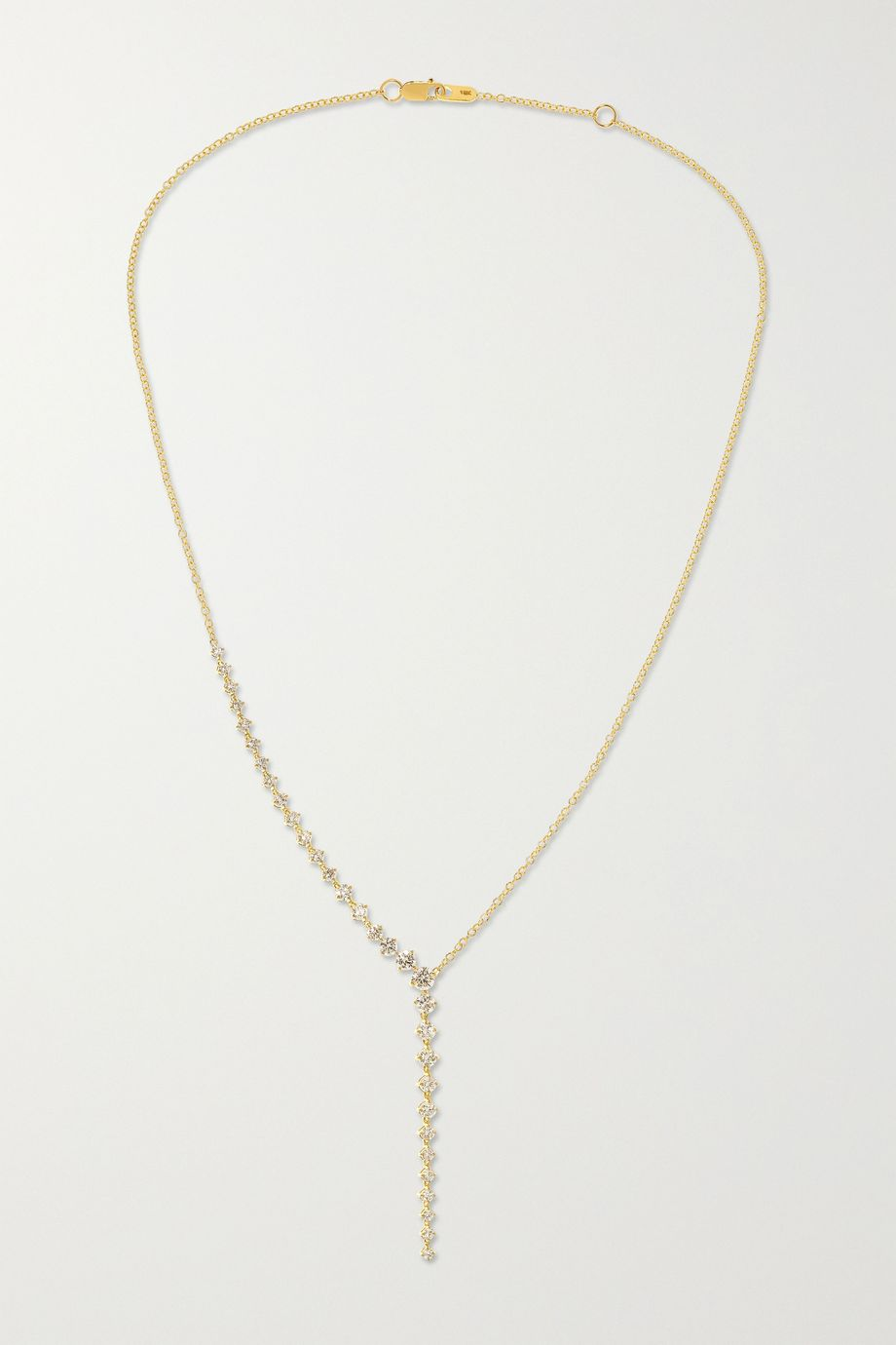 Melissa Kaye Aria Cascade 18-karat gold diamond necklace