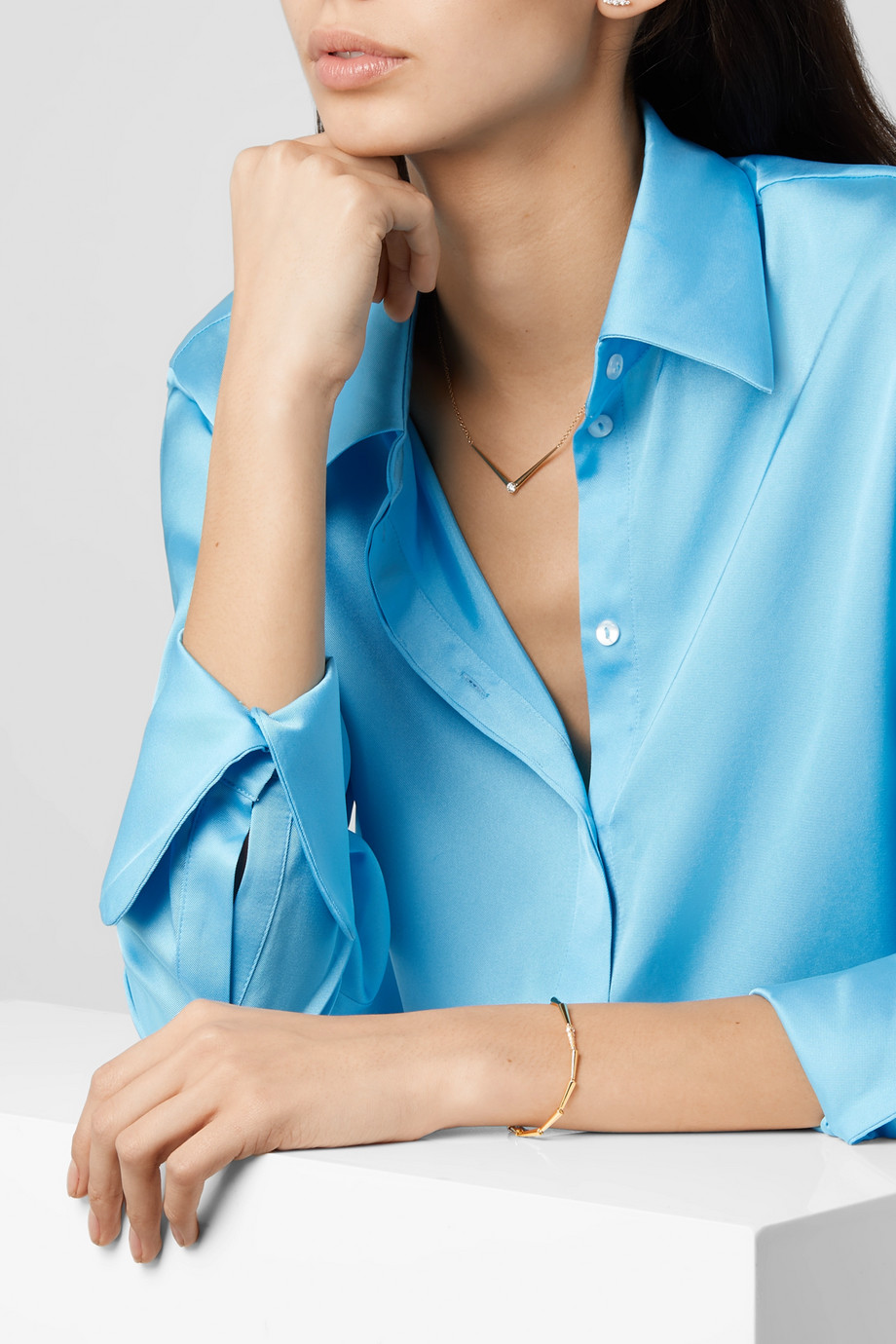 Melissa Kaye Lola 18-karat gold diamond bracelet