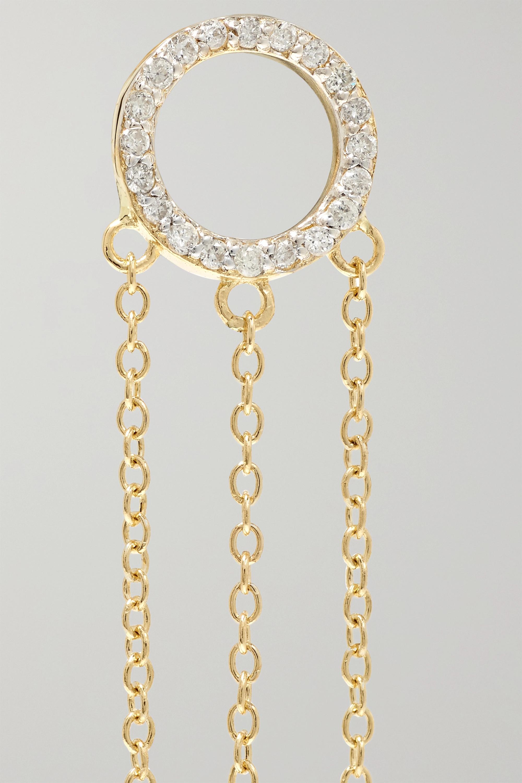 Mateo 14-karat gold, diamond and pearl earrings