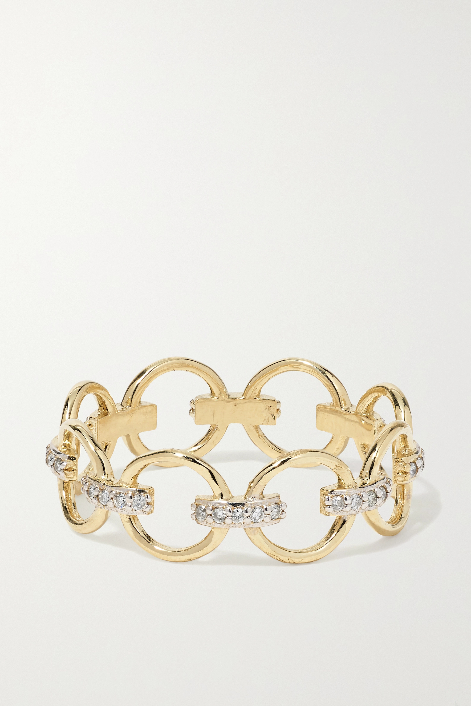 Mateo Ring aus 14 Karat Gold mit Diamanten