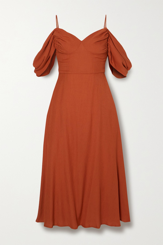 Cult Gaia Katalina cold-shoulder woven midi dress