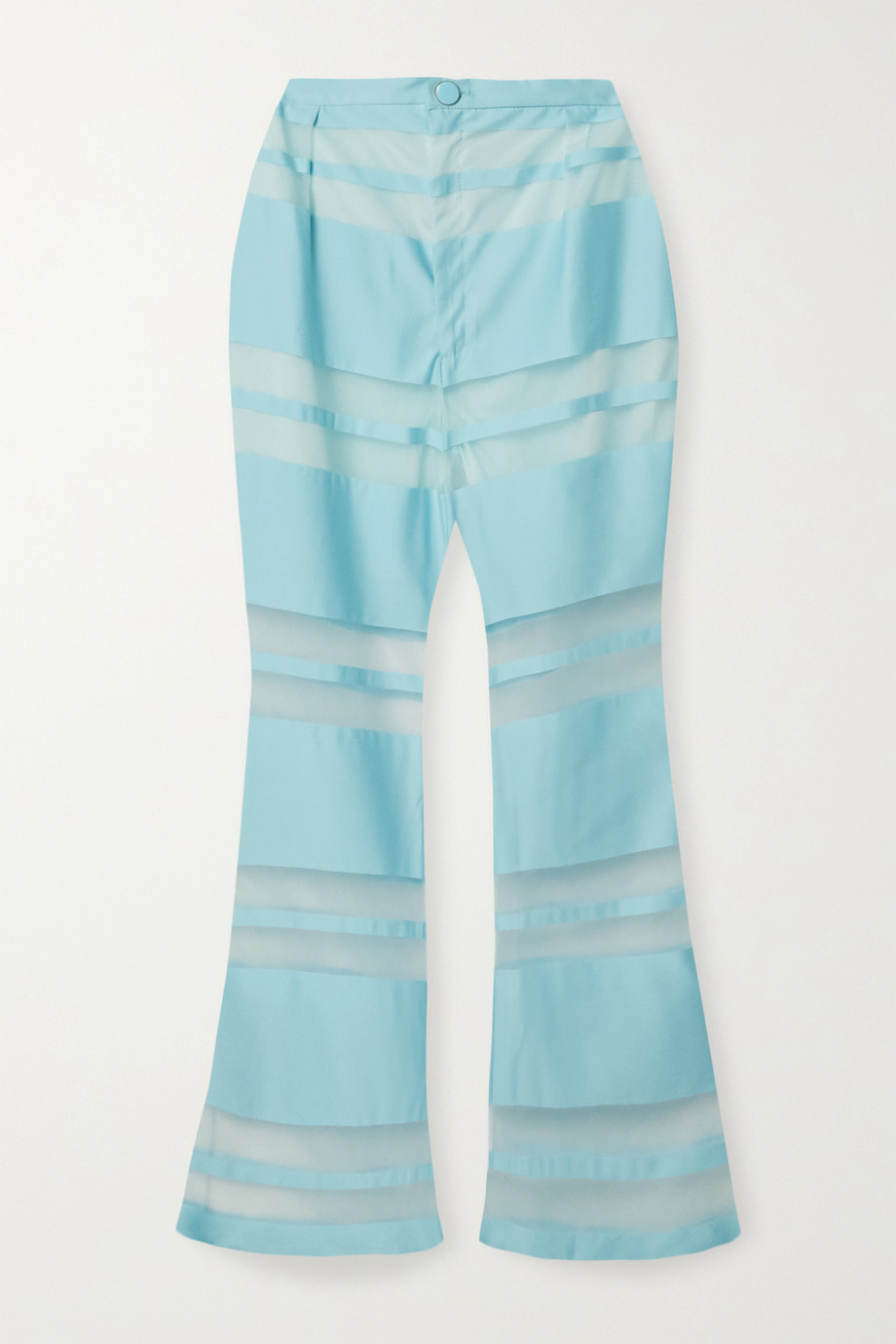 Cult Gaia Vivien striped satin-jacquard flared pants