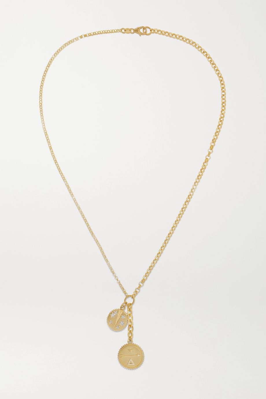 Foundrae Dream and Resilience 18-karat gold diamond necklace