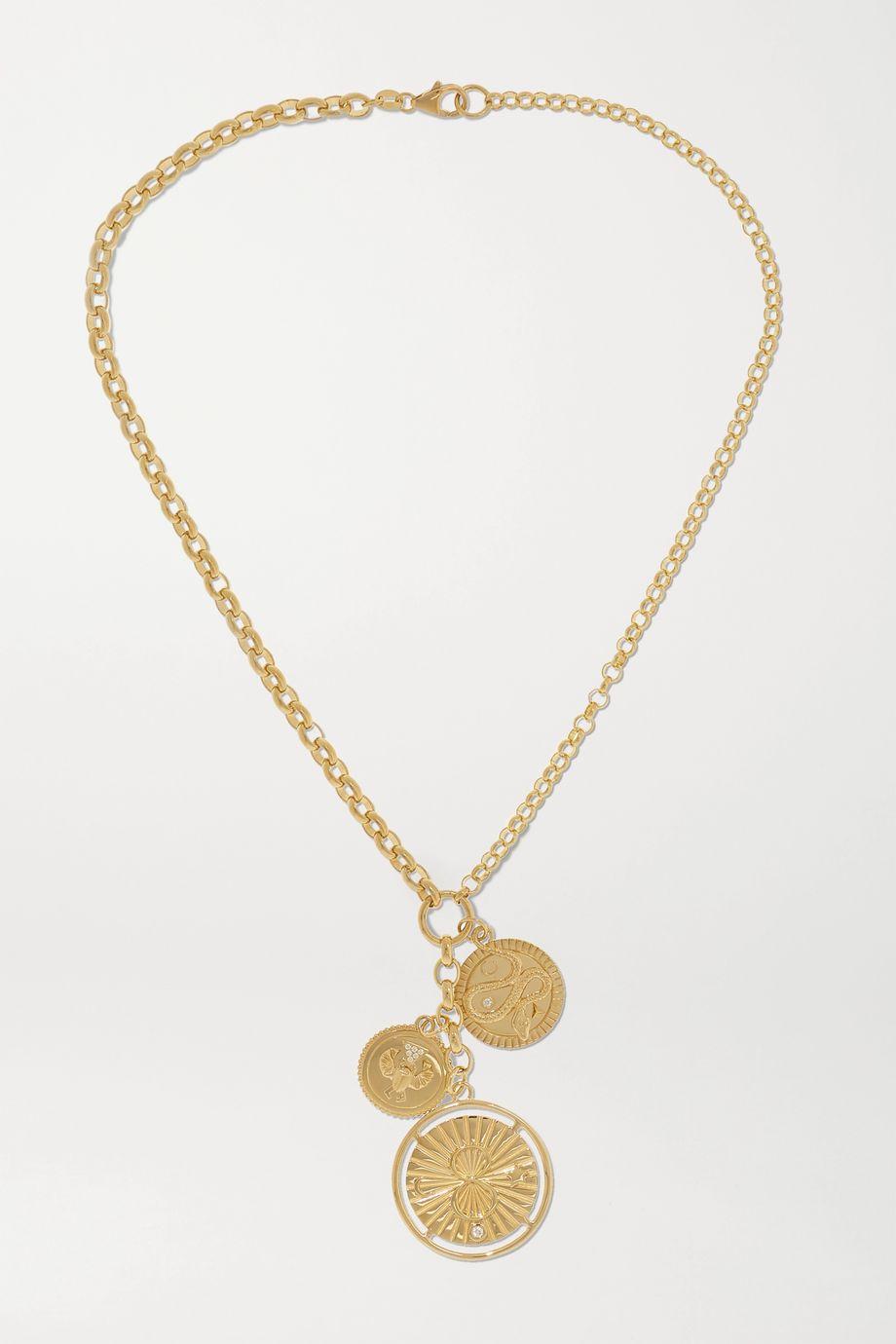 Foundrae Karma, Protection and Wholeness 18-karat gold diamond necklace