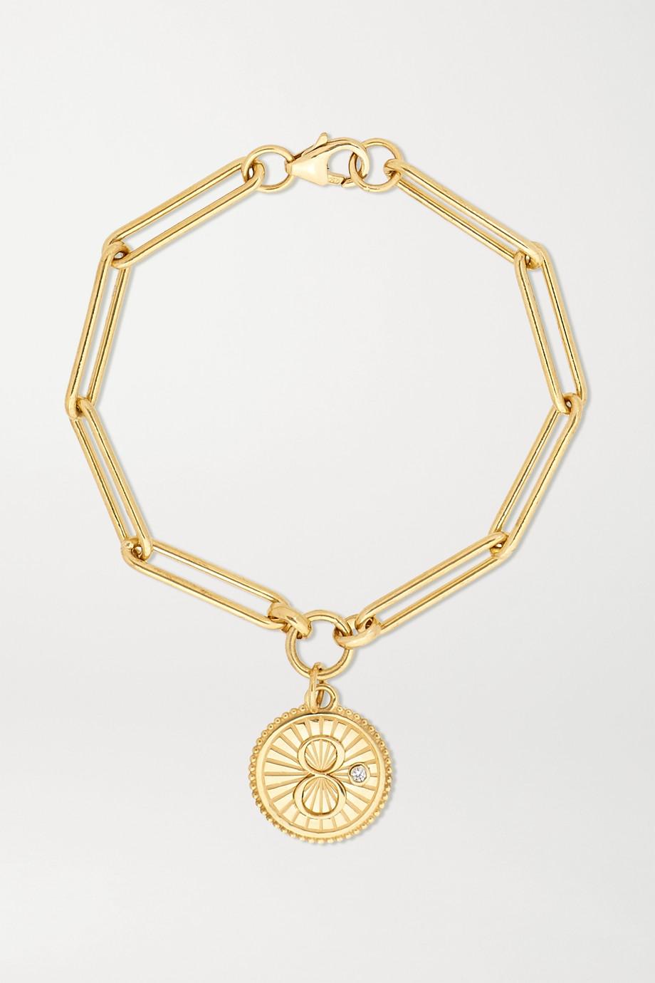 Foundrae Karma Armband aus 18 Karat Gold mit Diamant