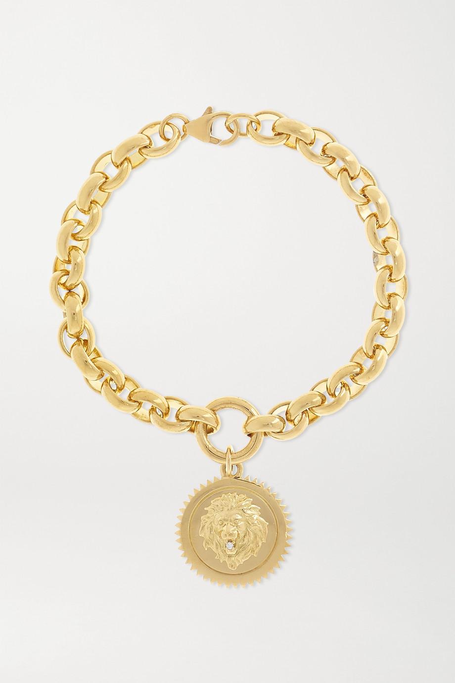 Foundrae Strength 18-karat gold diamond bracelet