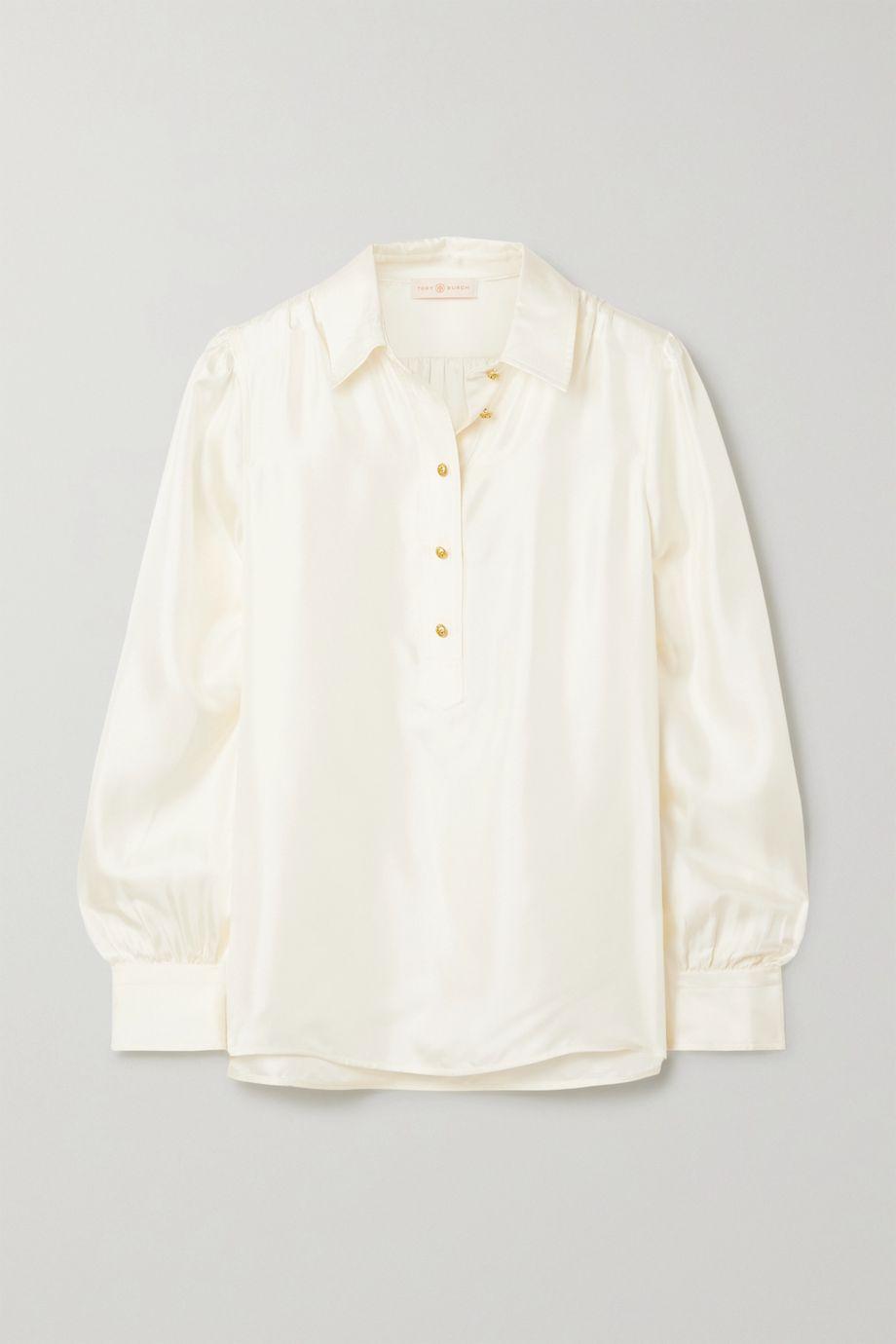 Tory Burch Silk-satin twill blouse